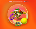 Bowser playing Tennis