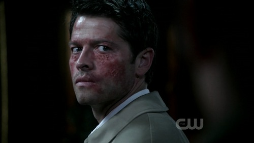 Castiel वॉलपेपर probably with a business suit entitled Castiel/God/Leviathan - 7x01 - Meet the New Boss