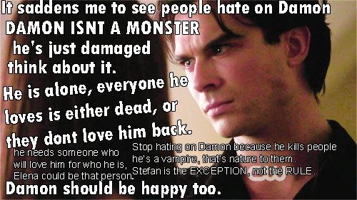 Damon deserves cinta too!