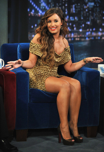 "Demi Lovato Visits ""Late Night With Jimmy Fallon"""
