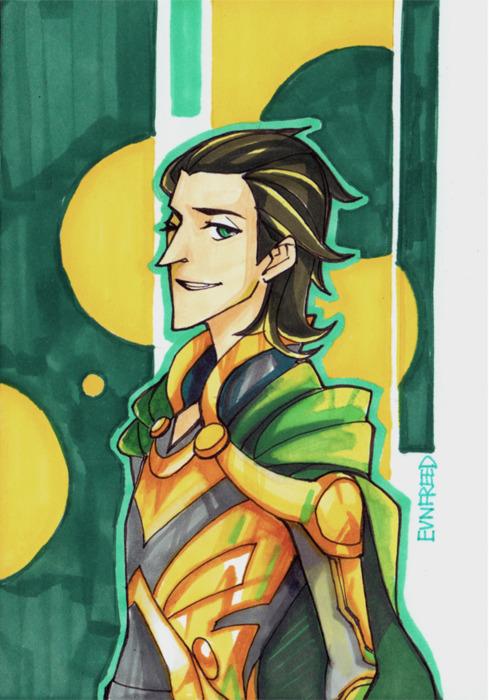 Drawn Loki Postcard