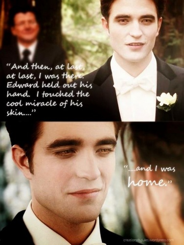 Breaking Dawn wallpaper containing a business suit entitled E/B Wedding