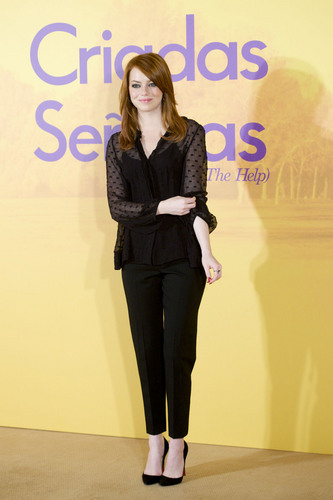 "Emma Stone: ""The Help"" Photocall in Madrid"