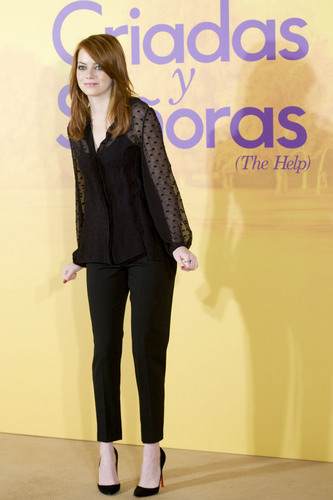 """Emma Stone: """"The Help"""" Photocall in Madrid"""
