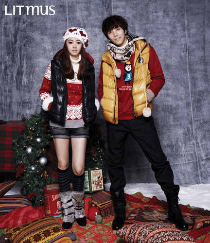 F.T. Island پیپر وال possibly with a sign and an outerwear called FT Island - LITMUS (Fall / Winter) 2011