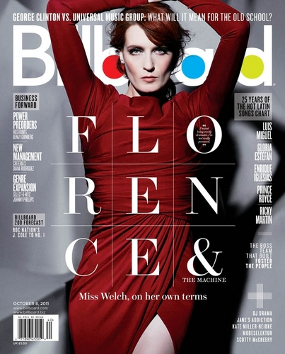 Florence on the cover of Billboard Magazine