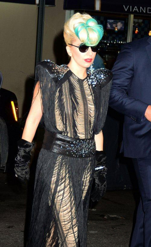 Gaga leaving Sting's tamasha in NYC