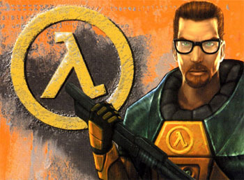 Wallpaper: Gordon Freeman on a HL1 promo