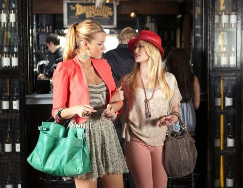 Serena van Der Woodsen wolpeyper possibly with a kaktel dress, a hip boot, and a chemise entitled Gossip Girl 5.02 - Beauty and the Feast