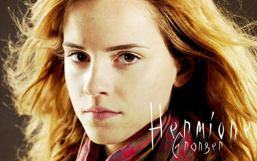 Harry Potter achtergrond with a portrait titled Hermione Granger
