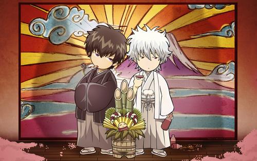 Hijikata and Gintoki chibis