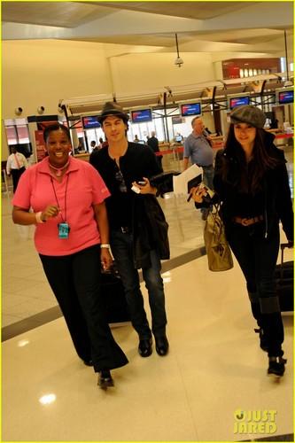 Ian Somerhalder & Nina Dobrev Head to NYC