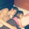 Jazzy and Justin Sleepin'