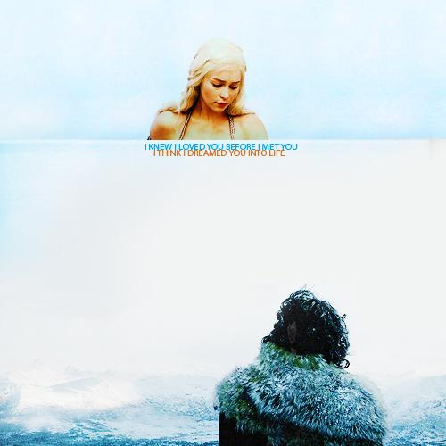 Jon & Daenerys wallpaper entitled Jon and Dany