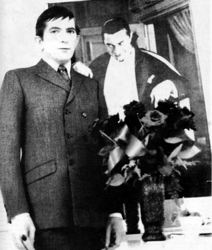 Dark Shadows wallpaper with a business suit, a suit, and a well dressed person titled Jonathan Frid