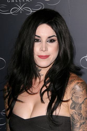 Kat Von D wallpaper probably containing a portrait entitled Kat Von D's Wonderland Gallery Opening
