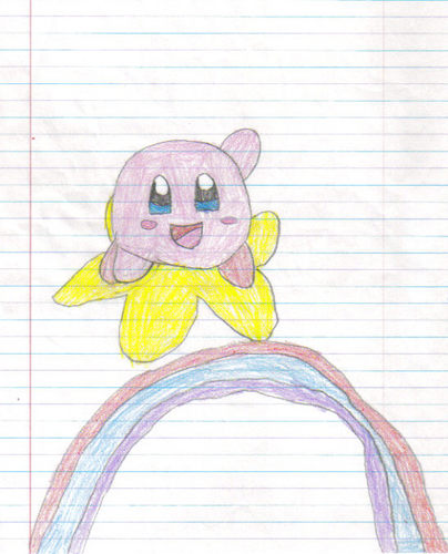 Kirby rides the skies