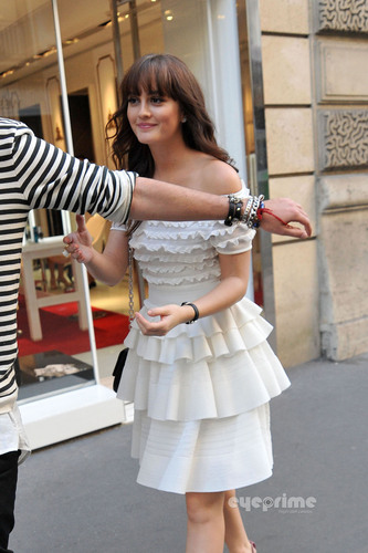 Leighton Meester seen out shopping in Paris, Sep 30