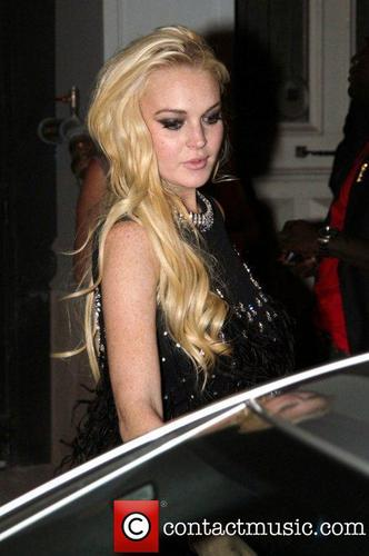 Lindsay Lohan. leaves Silencio club in the early hours of the morning
