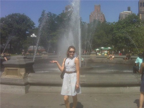 Tessa Virtue & Scott Moir wallpaper containing a fountain titled Lovely Tessa