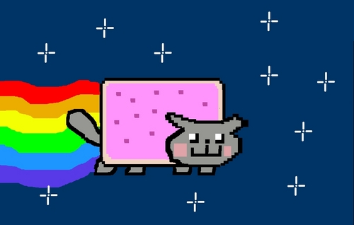 MY DRAWING OF NYAN CAT!!!!!