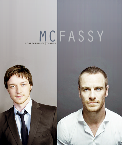 James McAvoy and Michael Fassbender wallpaper containing a business suit and a suit entitled McFassy