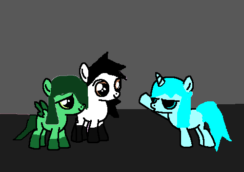 Me,Hannah,and my sister MLP style