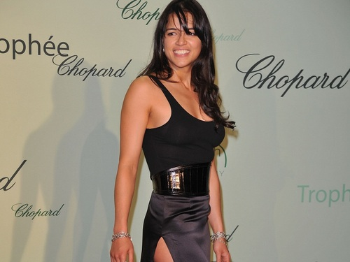 Michelle Rodriguez fond d'écran probably containing a bustier, a cocktail dress, and attractiveness titled Michelle Rodriguez fond d'écran