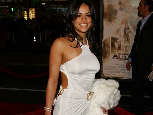 Michelle Rodriguez wallpaper probably with a gown, a dinner dress, and a bridesmaid called Michelle Rodriguez Wallpaper