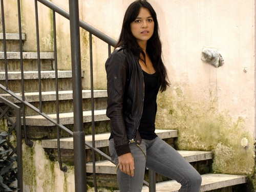 Michelle Rodriguez wallpaper possibly with a bannister, a chainlink fence, and a penal institution titled Michelle Rodriguez Wallpaper