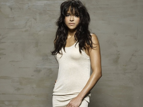 Michelle Rodriguez wallpaper probably containing a chemise, a playsuit, and a chemise entitled Michelle Rodriguez Wallpaper