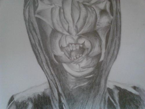 반지의 제왕 바탕화면 called My Drawing of the Mouth of Sauron