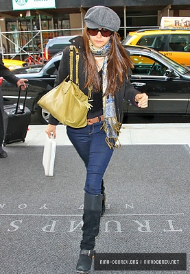 Nina Arriving in NYC