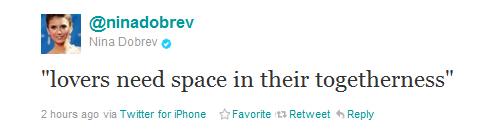 Nina's tweet <3