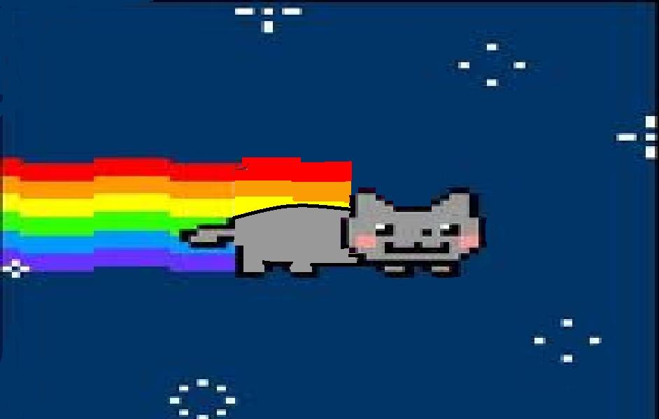 Nyan Cat Broke Out Of The Pop Tart...
