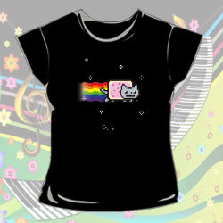 Nyan Cat karatasi la kupamba ukuta with a jersey entitled Nyan Cat Clothes