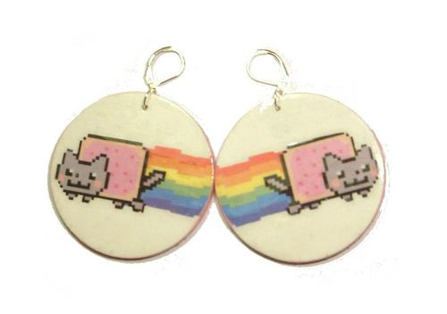 Nyan Cat Earrings