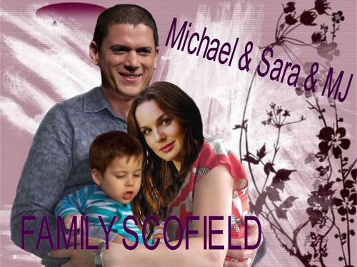 Wentworth Miller Hintergrund probably containing a sign and a portrait titled Prison Break - Family Scofield