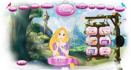 Rapunzel in Disney Princess Page