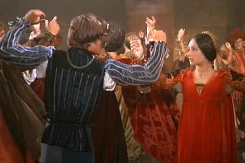 Romantic Movie Moments Hintergrund possibly containing a abendessen dress, a bridesmaid, and a cocktail dress titled Romeo and Juliet (1968)