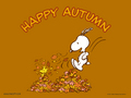 Snoopy happy Autumn  - autumn wallpaper