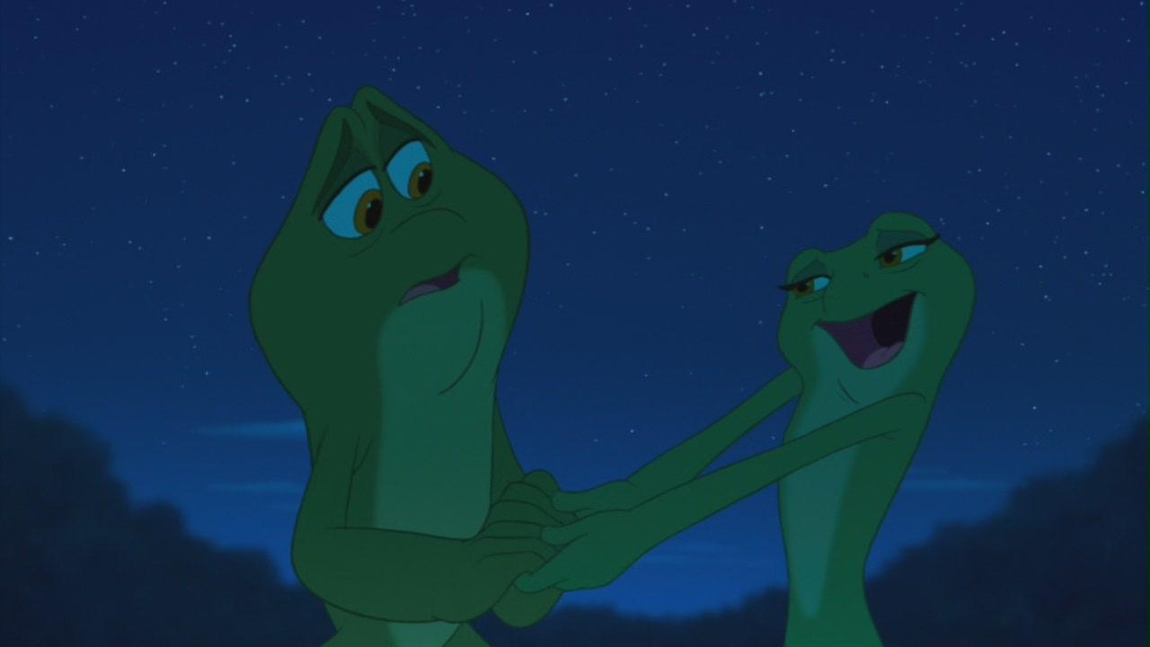 The princess and the frog tiana frog