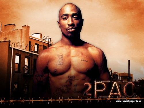 Tupac Shakur wallpaper possibly containing a hunk, a six pack, and skin titled Tupac 1024x768