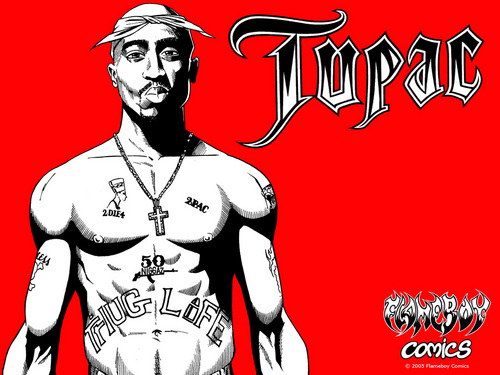 Tupac Shakur fond d'écran with animé called Tupac 1024x768