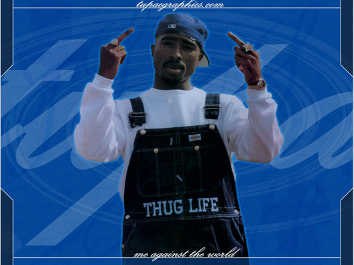 Tupac Shakur wallpaper probably containing a sign and a spatula called Tupac 1024x768