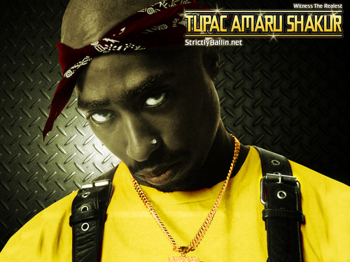 Tupac Shakur wallpaper containing a fedora entitled Tupac 1024x768