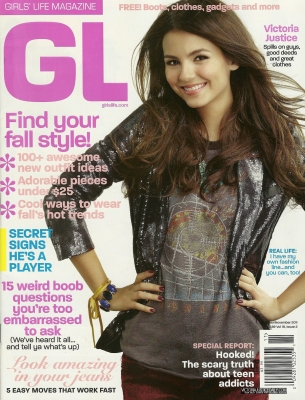 Victoria Justice on the Oct./Nov. cover of GL (Girl's Life)