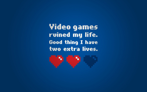 Nintendo پیپر وال entitled Video Games Ruined My Life