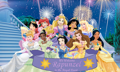Disney Princess achtergrond titled We Welcome Princess Rapunzel to the Royal Court
