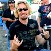 Chad Kroeger photo probably containing a green beret, fatigues, and a workwear titled x Chad Kroeger x